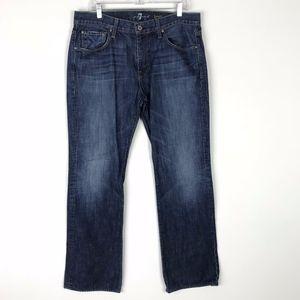 7FAM Brett Mens Straight Leg Jeans 36 #1892